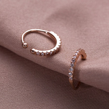 925 Sterling Silver Inserted Drill High-grade Ear Clip Simple Classic Temperament Ladys Hole-free Button Jewelry