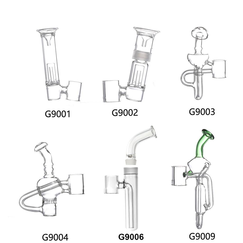 G9 19MM Detachable Glass Bubbler Mouthpiece Bong Attachment for 510 Nail/H Enail/Henail Plus/TC PORT/Clean Pen/GDIP Dab Rig Kit 1