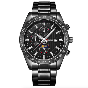 Image 4 - 크리 에이 티브 비즈니스 남성 시계 럭셔리 브랜드 스테인레스 스틸 손목 시계 크로노 그래프 육군 군사 석영 시계 relogio masculino