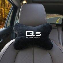1 Pçs/set Assento Suporte Encosto de Cabeça Do Carro Pescoço Travesseiro Encosto de Cabeça Auto Para Audi Q5 Q6 Q7 A3 A4 A4L A5 A6L C5 C6 RS4 RS5 Acessórios Do Carro