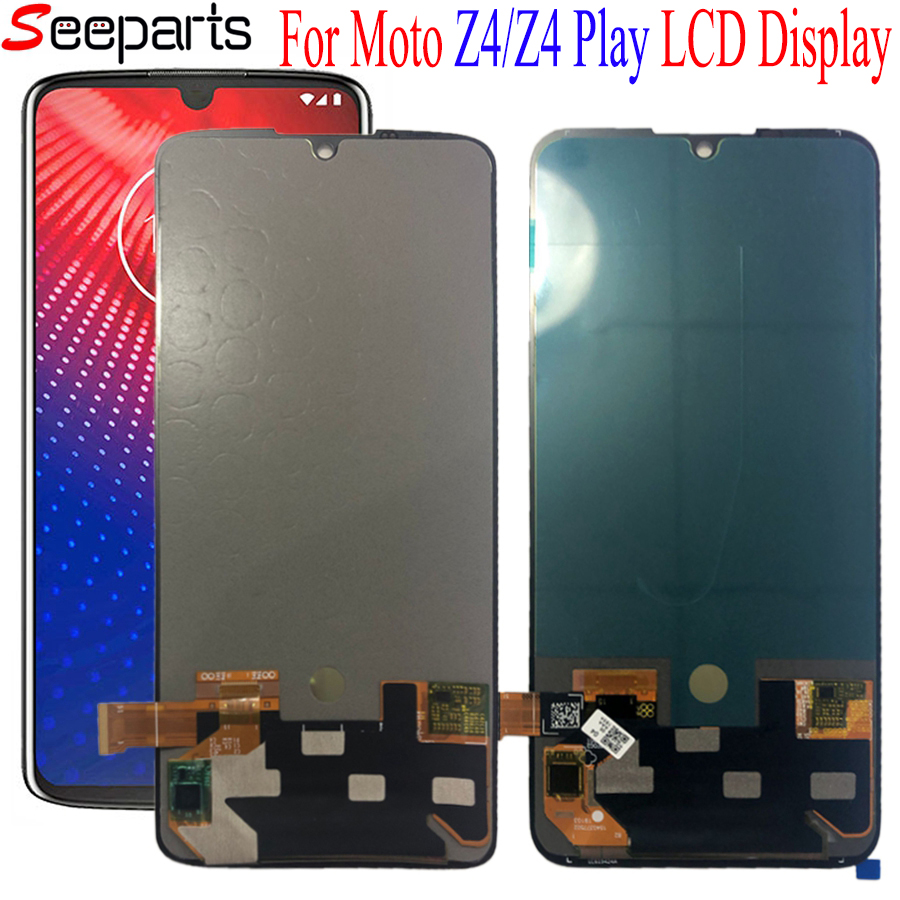 New Screen For Motorola Moto Z4 LCD Display Touch Screen Digitizer Assembly Replacement Screen For Moto Z4 Play LCD Display