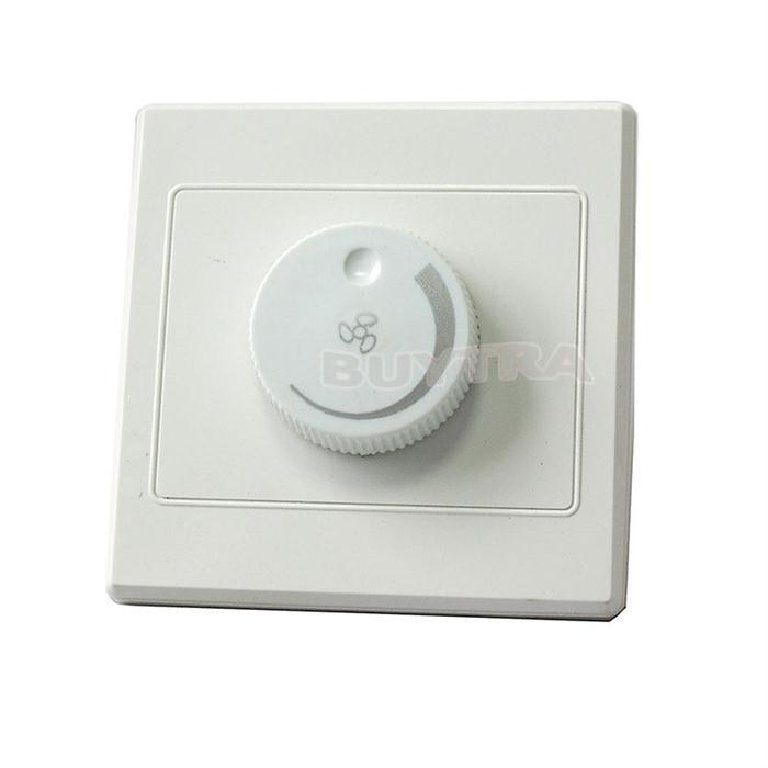 AC 220V Dimmer Light Switch Adjustment Lighting Control Ceiling Fan Speed Control Switch Wall Button Dimmer Switch