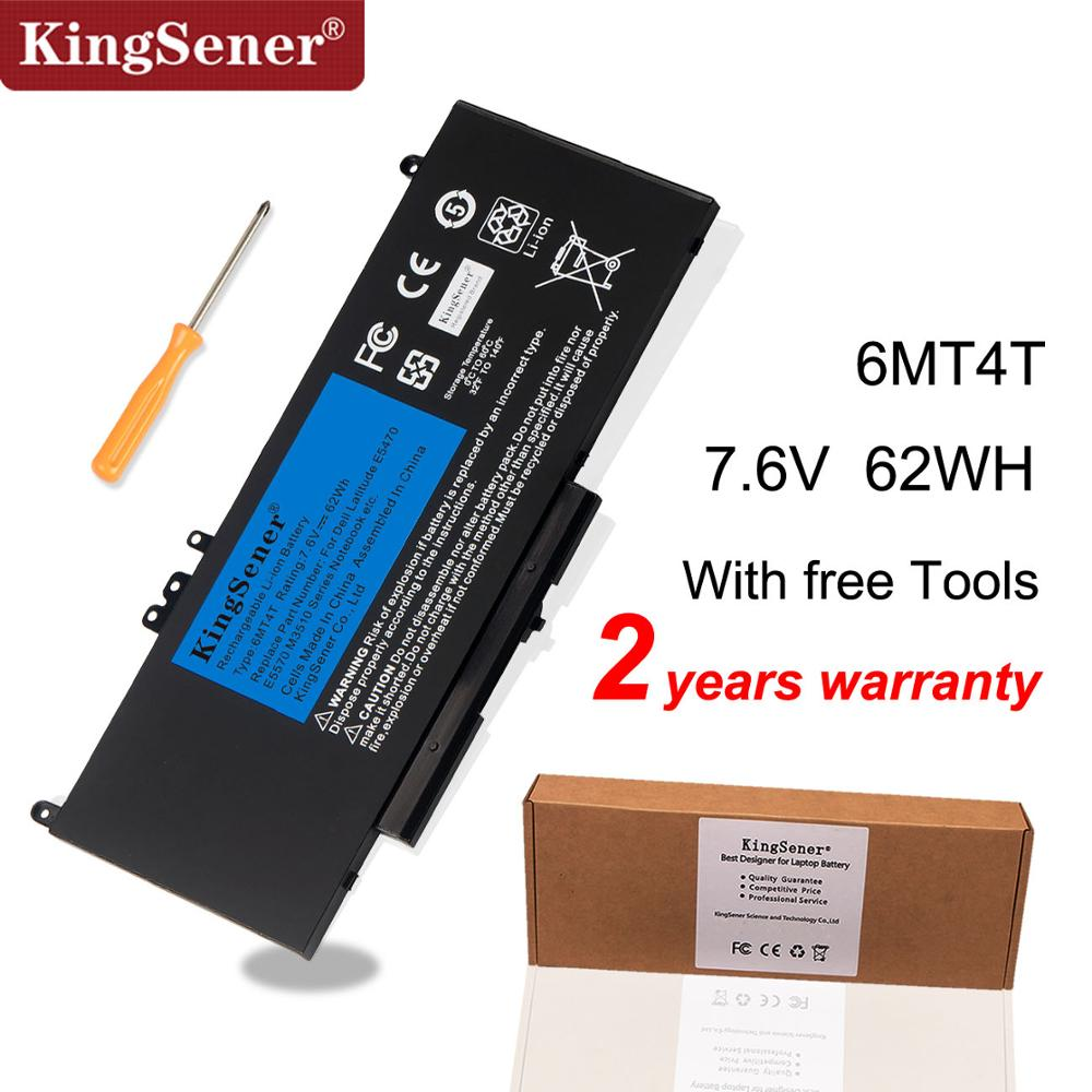 KingSener New 6MT4T Laptop Battery For Dell Latitude E5470 E5570 Notebook 15.6