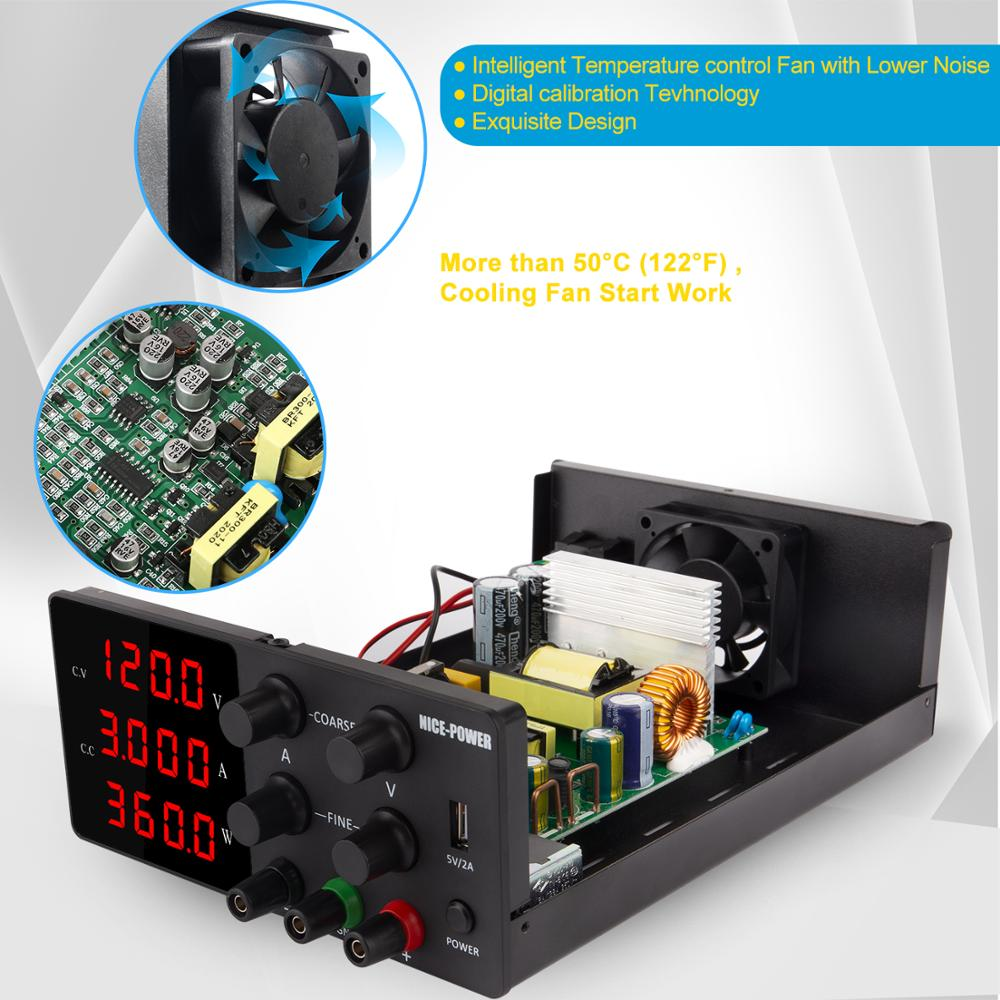 120V 3A Adjustable Power Supply Laboratory Digital Power Supply 30V 10A 60V 5A Bench Source Digital With USB Repair Products-2