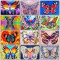 Алмазная живопись бабочка 5D DIY квадратная/Круглая Полная фотография Стразы Мозаика Искусство украшение для дома