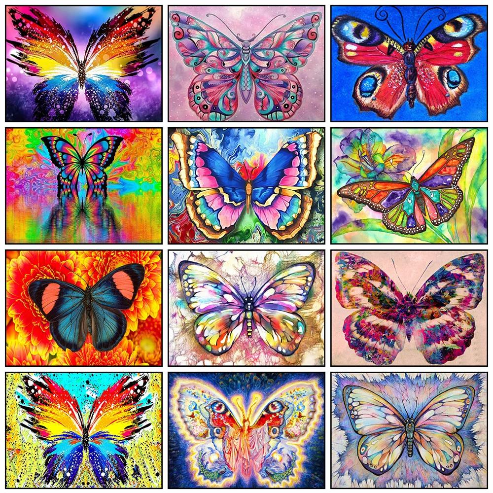 Pintura diamante borboleta 5d diy quadrado/redondo cheio de diamantes bordados animais imagem de strass mosaico arte decoração para casa