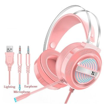 PC Wired Earphone Headset PC Gamer Stereo Headphone Flexible Adjustable Mic Headset Profession Gaming Headset