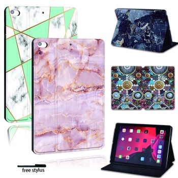 For iPad 2 3 4 5 6 /iPad MINI / Air/Pro PU Leather Smart Tablet Stand Folio Cover - Ultra-thin Various marble colors Slim Case for ipad 2 3 4 5 6 7 air 1 2 3 pro 11 2018 2020 pu leather tablet stand folio cover ultra thin star colors slim case