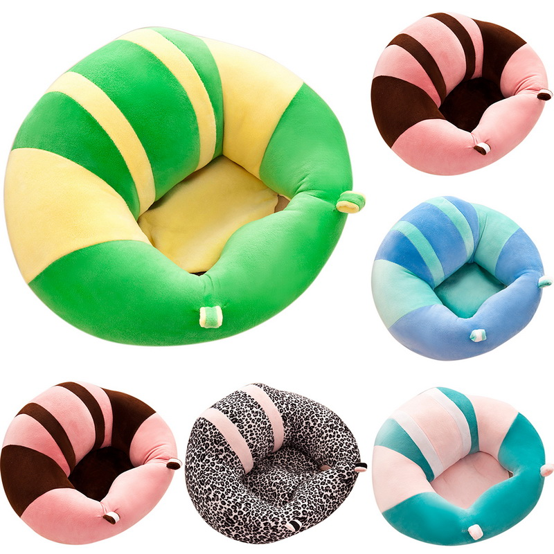 CYSINCOS Baby Sofa Learn Sitting Chair Nursery Support Seat Pillow Protector Plush Baby Seat Sofa Support Cotton Feeding Chair