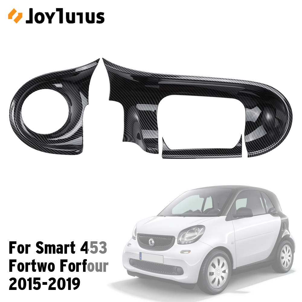 Car Center Console Carbon Fiber Decorative Panel For Smart 453 Fortwo Forfour 2015-2019 Interior Protection Cover Car Styling