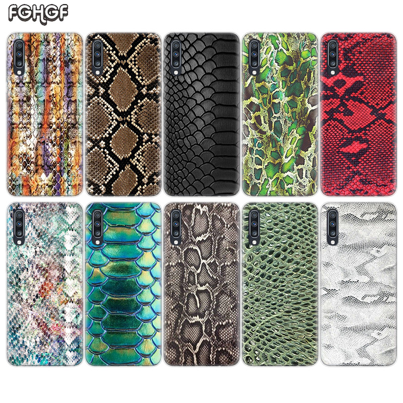 Snake Skin <font><b>Art</b></font> Soft TPU <font><b>Case</b></font> For <font><b>Samsung</b></font> <font><b>Galaxy</b></font> S10 Plus S10E A70 A50 <font><b>A30</b></font> M40 M30 M20 A60 A40 A20 A10 M10 A20E A80 Cover image