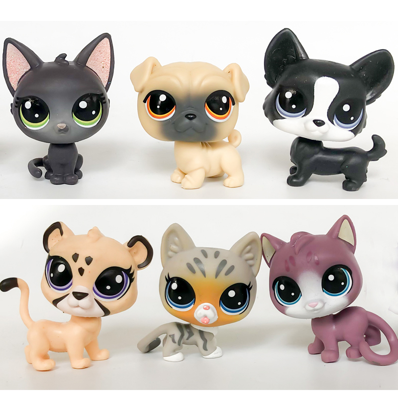 LPS Pet Shop Collection Figure Collie Cat Dog Squirrel Ribbat Animals Cute Kid Toys Figure Gift Y20010703