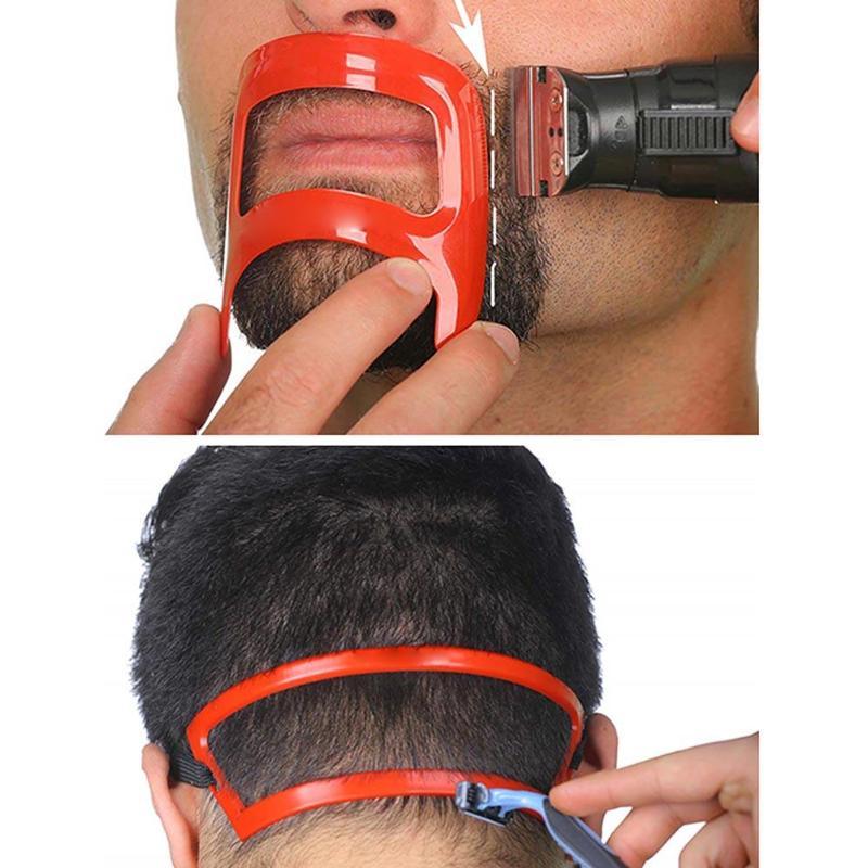 Men Beard Shaping Stencil Neckline Edge Back Hair Trimming Shaver Template Stencil Mold Beard Trimmer Stencils Hair Styling Tool