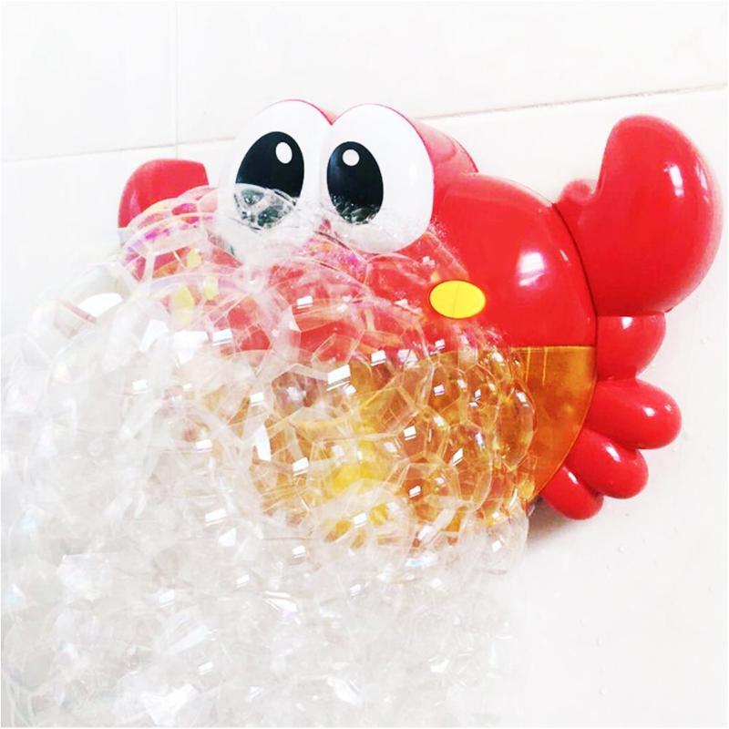 Baby Bath Toy Bubble Crabs Funny Music Bath Bubble Maker Pool Swimming Bowl Baby Fun Toy Happy Bathtub Bubble Machine 19 Color