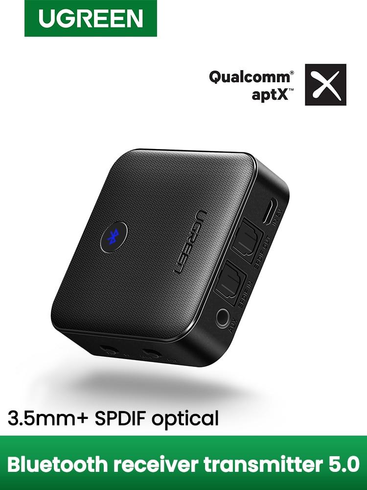 UGREEN Transmitter-Receiver Audio-Adapter Aptx Hd Wireless Aux-Jack TV Optical-Toslink