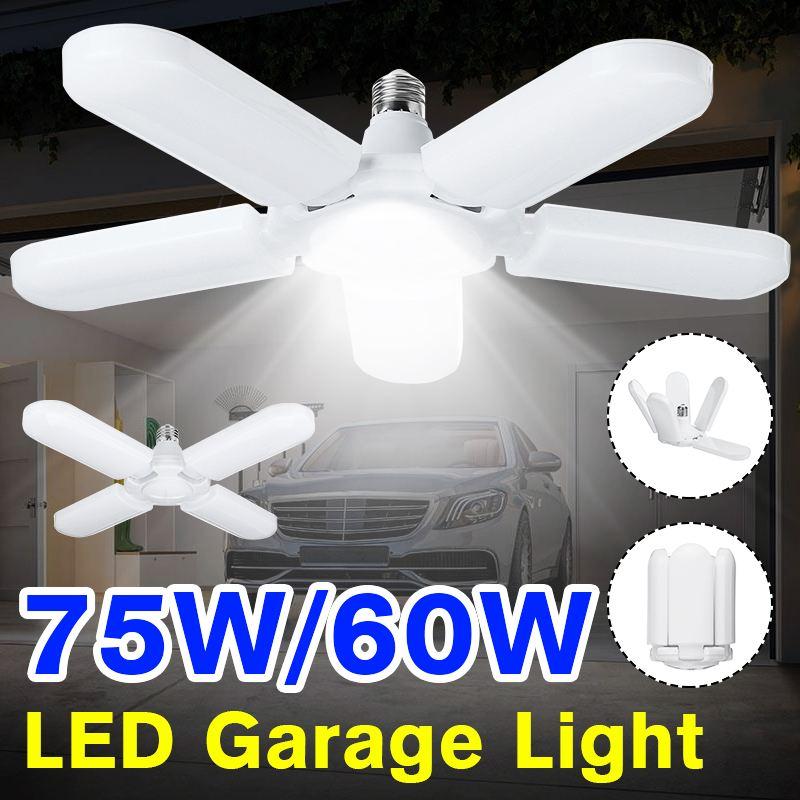 Super Bright Industrial Lighting 60W/75W E27 Led Fan Garage Light 4800LM 85-265V 2835 Led High Bay Industrial Lamp For Workshop