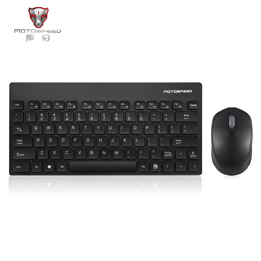 Motospeed 2.4GHZ Wireless Keyboard Mouse Set Lightweight 1600DPI Keyboard Mouse Set For PC Laptop Computer