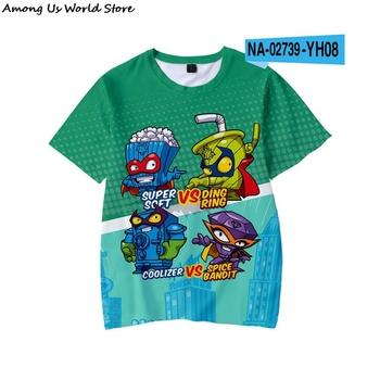 Chłopcy Super Zings sonic drukuj ubrania dla dzieci 3D śmieszne koszulki dla dzieci Superzings odzież chłopcy graficzne koszulki Anime wśród eboy tanie i dobre opinie Poliester spandex CN (pochodzenie) Moda Cartoon REGULAR O-neck Krótki Pasuje prawda na wymiar weź swój normalny rozmiar