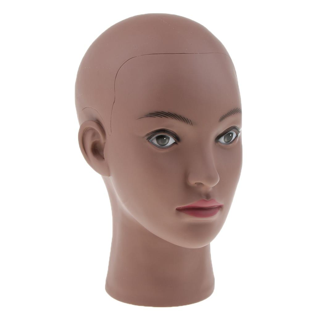 Манекен голова стенд Коричневая кожа Женская Профессиональная косметология парик шляпа очки фотография Стенд