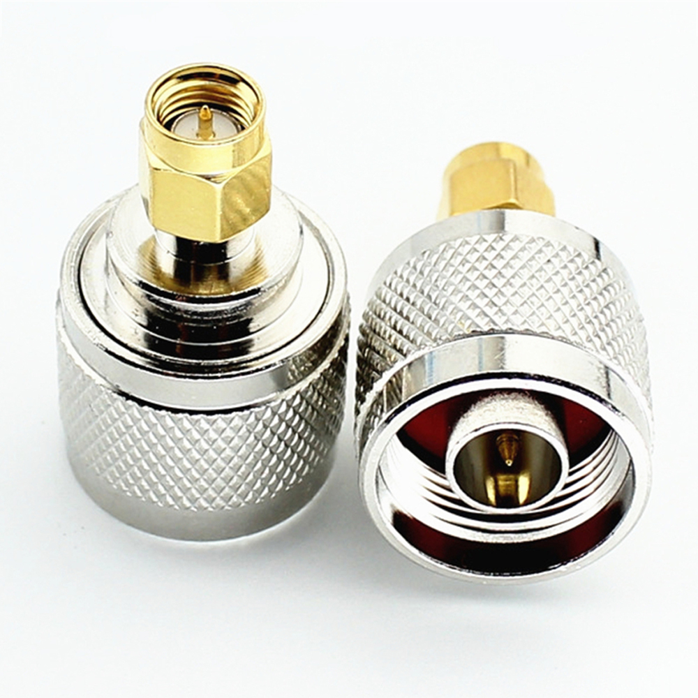 2PCS N Male Plug To SMA Male Plug Straight RF Coaxial Connector Adapter RF Coaxial  N Male Plug To SMA Male Plug Aaapter