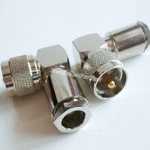 1x macho uhf pl259 PL-259 90 graus braçadeira rg8 rg213 lmr400 cabo ângulo direito ra rf conector