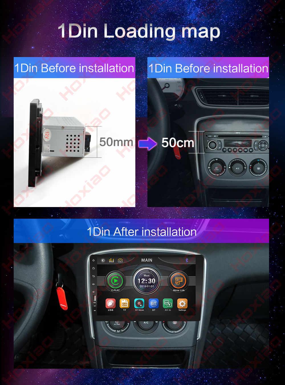 "1 DIN integrado MP3 Carplay Android Auto 2 din coche Radio reproductor con pantalla táctil espejo enlace MP5 Bluetooth 9 ""HD de Audio de coche 2DIN"