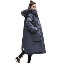 Winter Jacket Women Overknee Plus Size Solid Parka Artificial Fur Collar Hat Manteau Femme Hiver Bayan Mont Icebear Long Coat