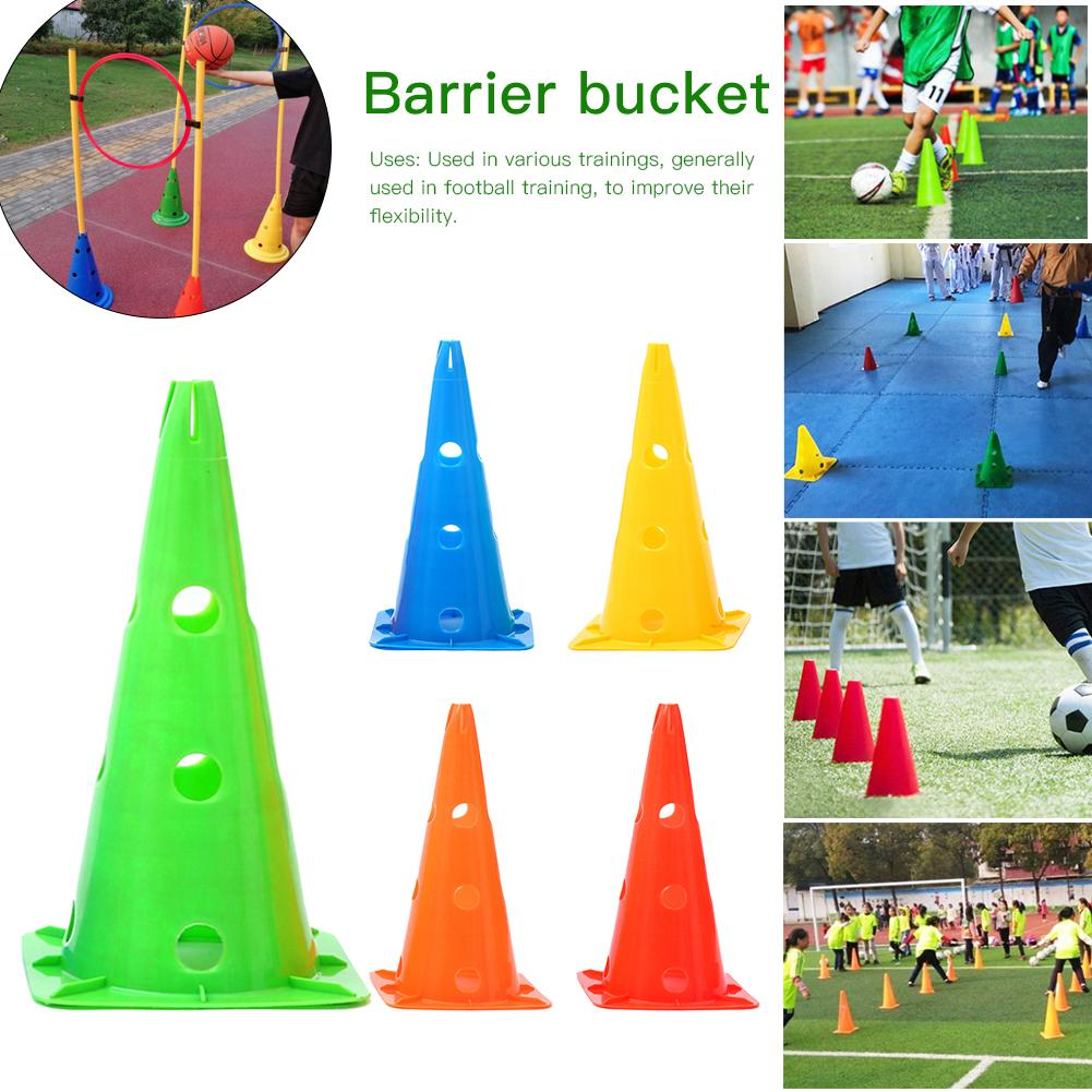 Barrier Bucket Home Springback Anti-freezing Basketball Training Equipment Plastic With Hole Solid Football Traffic Cone