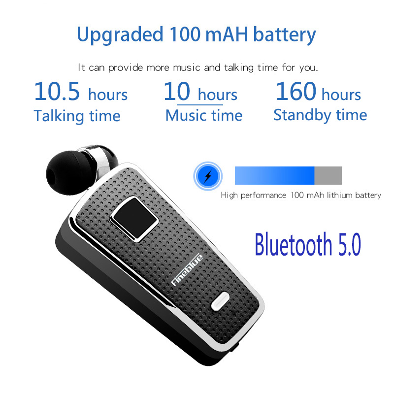Fineblue F970 Pro bluetooth 5 0 call vibration 10 hours working time Bluetooth earpiece wireless earphone Bluetooth headset