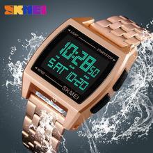 Top Luxury Watch Men SKMEI Stainless Steel Strap Fashion 3Bar Waterproo