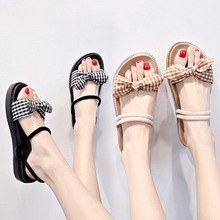 Womens Shoes Two Sandals Summer Outer Fashion Women Students Flat-soled Slippers