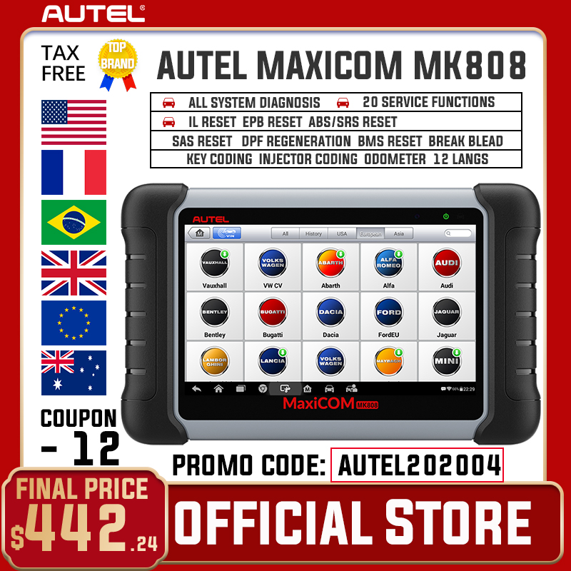 Autel MaxiCOM MK808 OBD 2 Car Diagnostic Tool OBD2 Scanner Auto Diagnosis Functions OBDII Code Reader Key Programming PK MX808|diagnostic tool autel|autel diagnosticdiagnosis tools - AliExpress