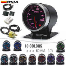 """EPMAN 2"""" 52mm 10 Color LED Backlight Smoke Face Oil Pressure Gauge PSI Oil Press Meter w Sensor Mount Bracket Cup Holder EPXX705"""
