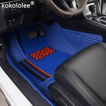 kokololee Custom car floor mats for Cadillac SRX CTS Escalade ATS CT6 XT5 CT6 ATSL XTS SLS Double foot mat car accessories