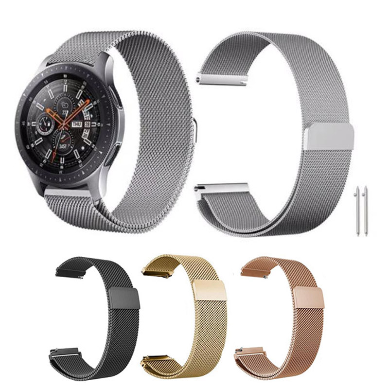 Milanese Band Strap for Samsung Galaxy Watch Active Gear S2 S3 Garmin 245 Amazfit GTR GTS Pace Bip 2 Stratos Huawei GT GT2 46mm
