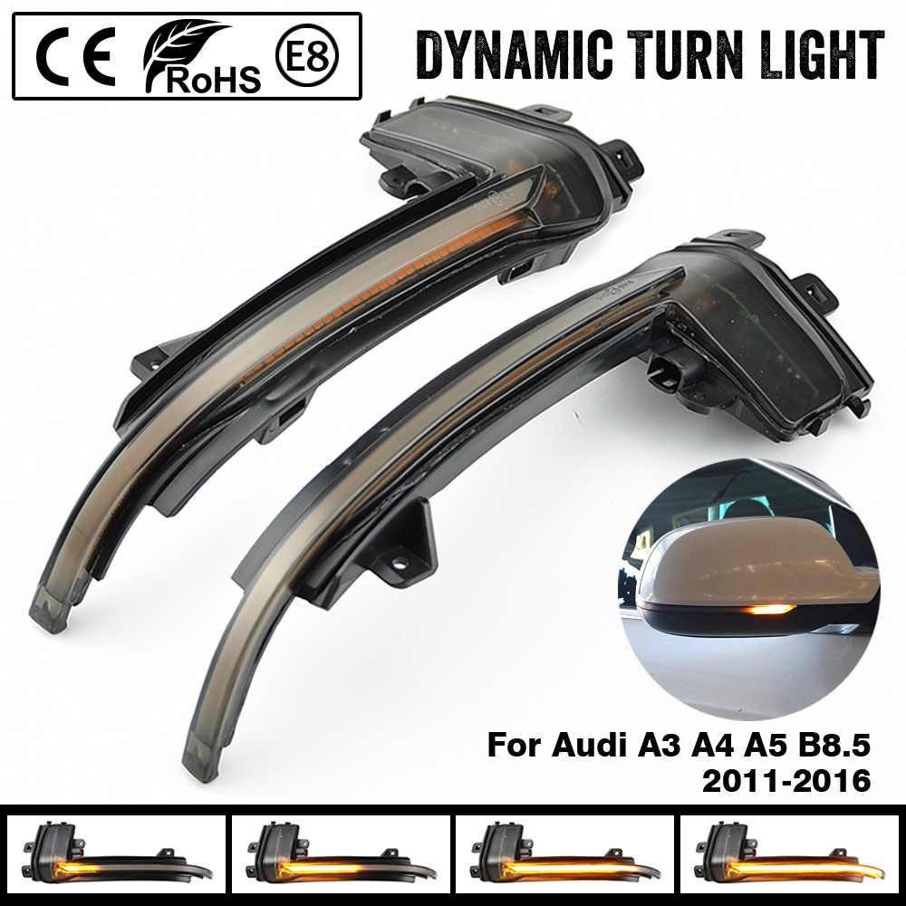 Espejo de luz intermitente para Audi A4 A5 B8 B8.5 A3 8P Q3 A6 C6 4F S6 SQ3 A8 D3 8K RS3 RS4 S5 dinámica del indicador intermitente