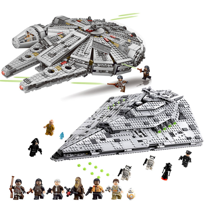 NEW 1381Pcs OLEKU Millennium Compatible Legoinglys Star Wars Set Bricks Models & Building Blocks Toys For Children Starwars