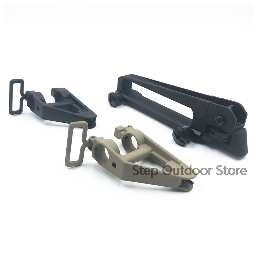 Airsoft AR15 Metal Detachable Black Carry Handle Dual Apertures A2 Rear Sight and Triangle Front Sight For M4 M16 hunting
