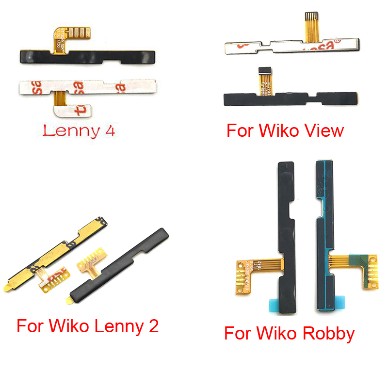 For Wiko Volume Button Power Switch On Off Button Flex Cable For Wiko Lenny 2 3 4 Jerry Max / Harry 2 / Robby Sunny 2 Plus