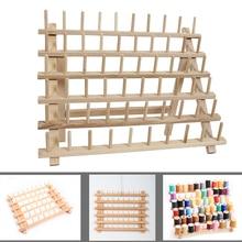 Wooden Sewing thread spool holder Tool Thread Rack Wooden Organizer Sewing 60 spool Thread Holder Frame