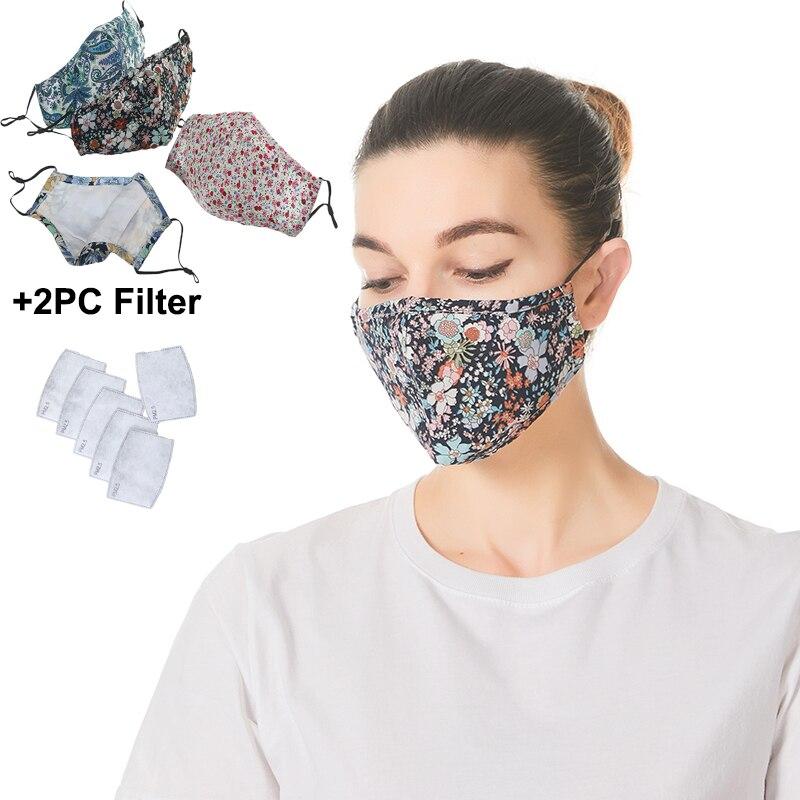 5 шт. летняя тонкая хлопковая маска для рта маска для лица против пыли PM2.5 маска для рта с активированным углем фильтрующая маска Цветочная маска для лица Моющаяся|Женские маски|   | АлиЭкспресс