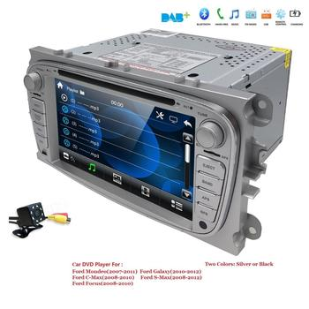 US/EU warehouse Car DVD multimedia Player For FORD Mondeo S-MAX Connect FOCUS 2 2008 2009 2010 2011 GPS Navi RDS BT free Map Cam image