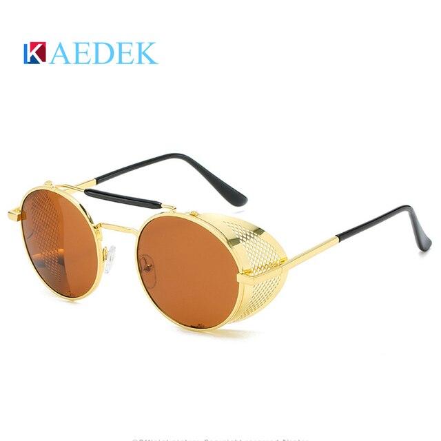 Фото мужские и женские солнцезащитные очки kaedek круглые в стиле цена