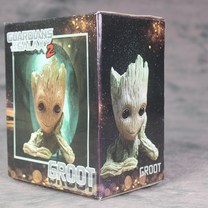 Groot Guardians of The Galaxy Flowerpot Baby Action Figures Cute Model Toy Pen flower Pot Best Christmas Gifts For Kids Drop shi (4)