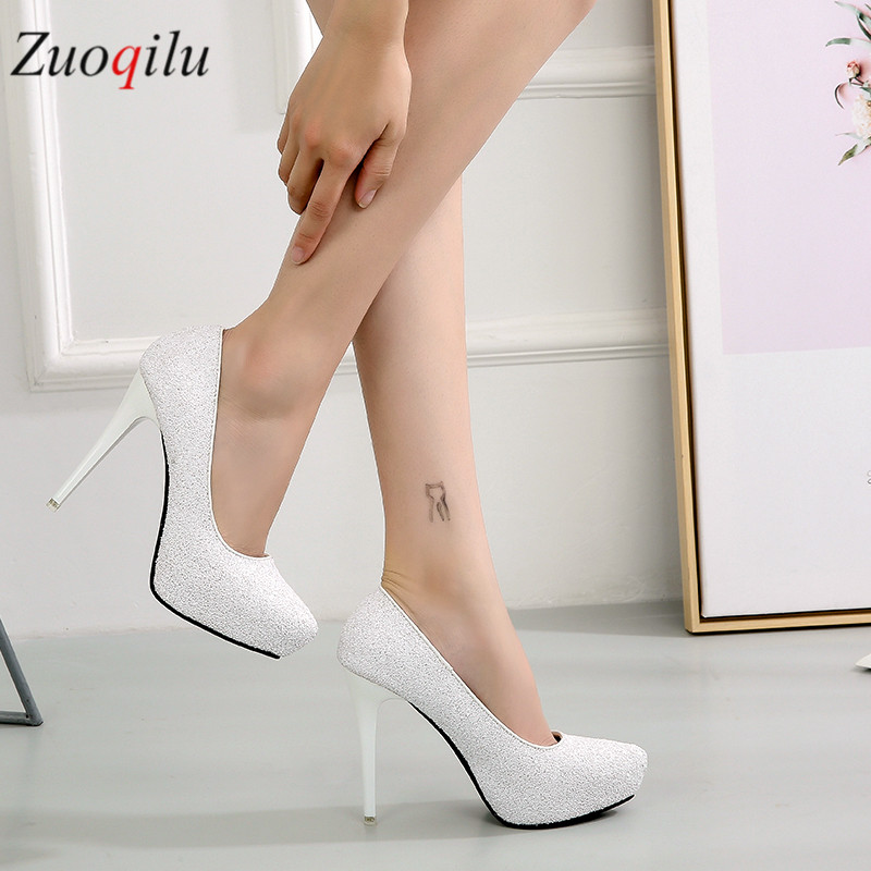 White High Heels Wedding Shoes Bridal High Heels Ladies Shoes Pumps Women Shoes 11.5CM Red Heels Shoes