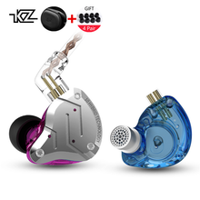 KZ ZS10 Pro 4BA+1DD Hybrid Driver In Ear Headphones DJ Metal Super Bass Headset Hifi Wired Music Earbuds Monitor Earphone oneodio wired professional studio pro dj headphones with microphone over ear hifi monitors music headset earphone for phone pc