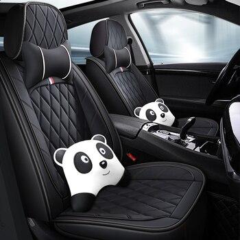 Pełne pokrycie eko skóry pokrowce na siedzenia samochodowe siedzenie samochodowe ze skóry pu obejmuje dla Peugeot 107 208 301 308 408 rcz 508 2008 4008 3008
