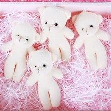 Mini ours en peluche en diamant pour filles, 10 pièces/lot, petit pendentif mignon, poupée douce en peluche, cadeau pour enfants, 12CM