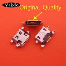 100pcs Micro Mini Usb Jack Socket Connector Charging Port Replacement Repair Parts For ALCATEL POP 3 OT 5015 5015X 5015D POP3