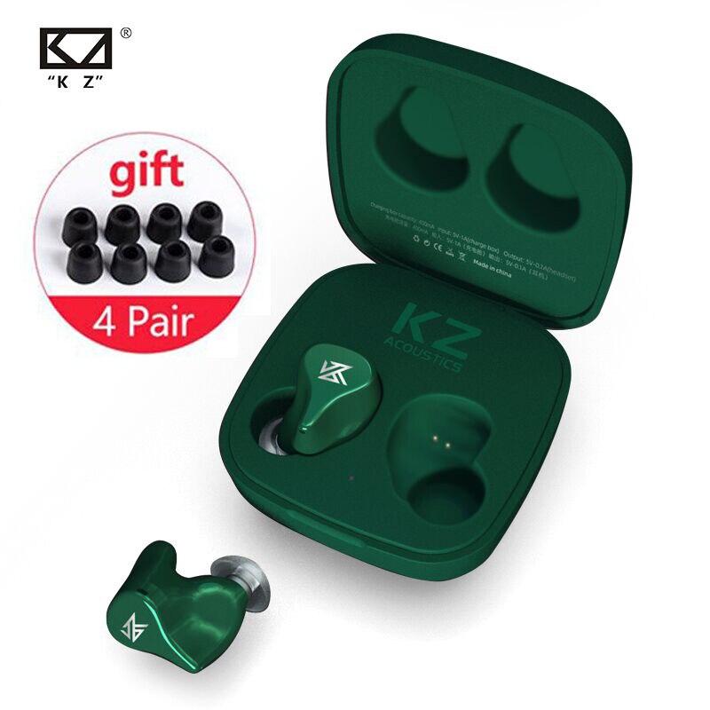 KZ Z1 TWS Wireless Bluetooth v5.0 Earphones Dynamic Speaker Game Earbuds Noise Cancelling Sport Sweatproof Headset S1 S2 C10